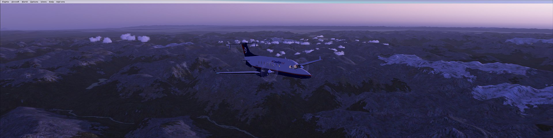 Taking a cruise over the Coastal Mountain range