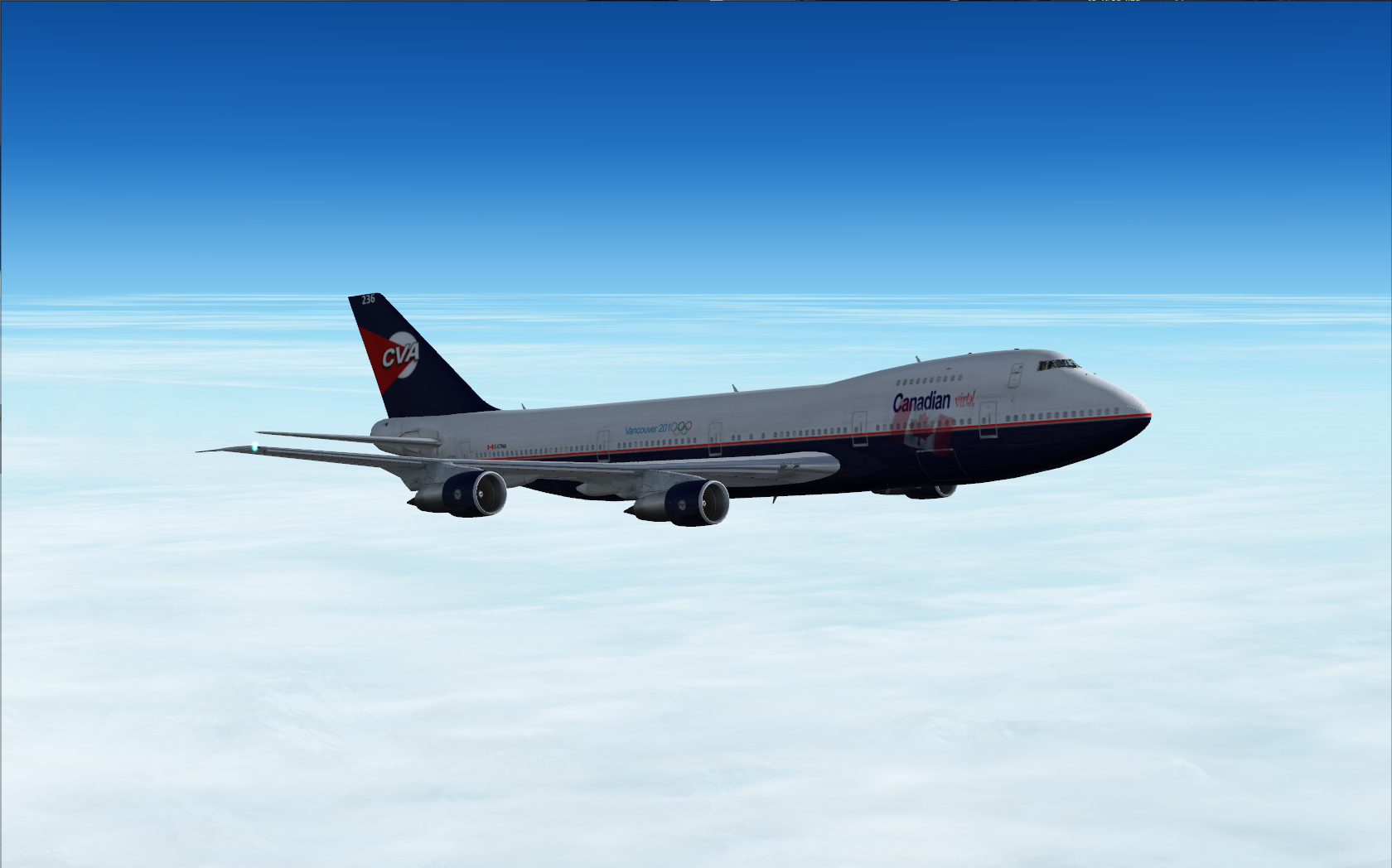 Cruising over CYEG in CLS 747-200.