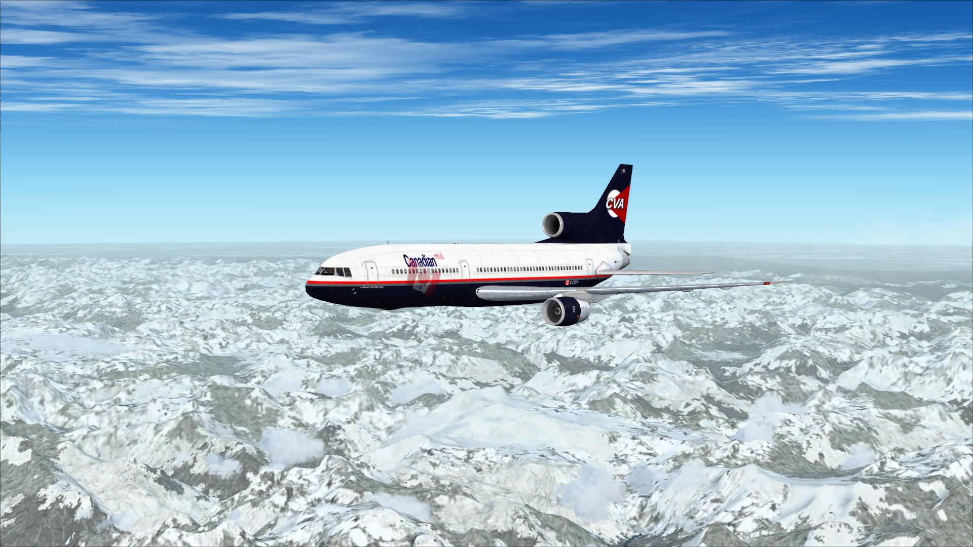 Enroute to CYYC from CYVR in JF L-1011 Tristar Pro.
